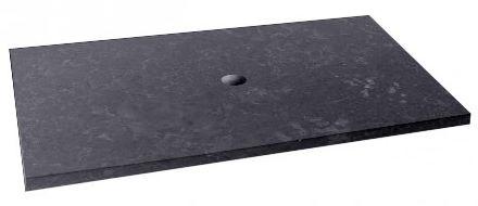 Marmorplatte dunkel für Aufsatzwaschbecken