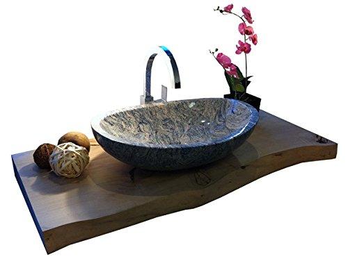 Aufsatzwaschbecken oval Stein