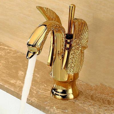 Armatur für Aufsatzwaschbecken gold